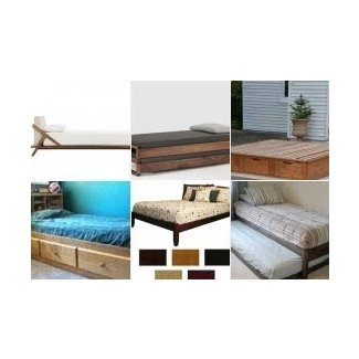 Solid wood twin platform bed