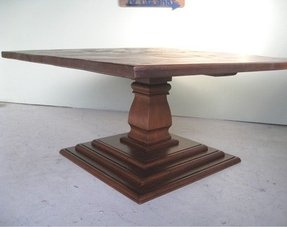 Square Pedestal Dining Table 7