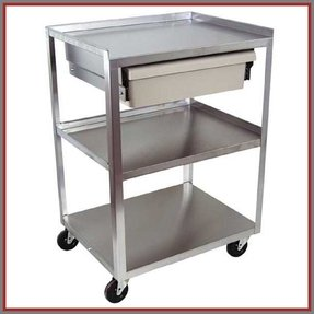 Stainless Steel Cart With Wheels