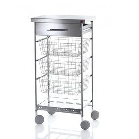 Stainless steel carts with drawers 1