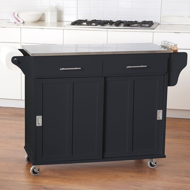 Stainless Steel Utility Cart With Drawers
