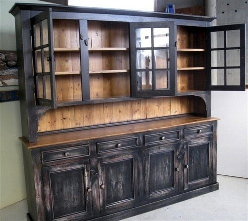 Beau Rustic China Hutch   Ideas On Foter