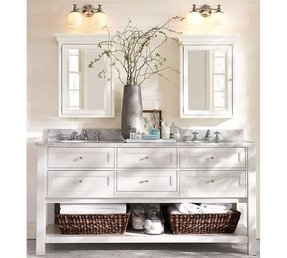 Traditional double sink bathroom vanity 5