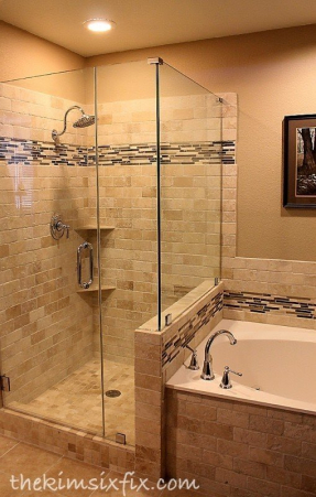 Travertine accent tiles 1
