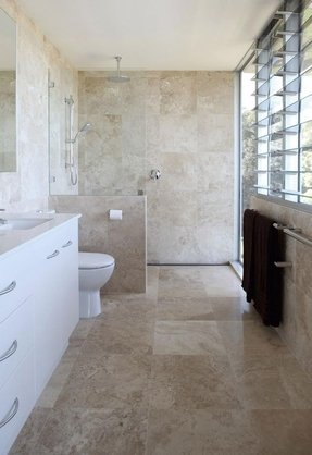 Travertine accent tiles 10