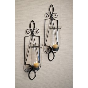 Wrought Iron Wall Sconces For Candles - Foter on Iron Wall Sconces For Candles id=22745