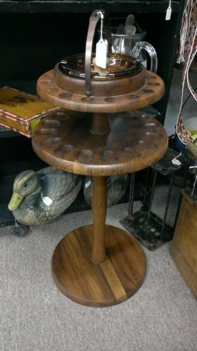 Vintage metal ashtray stand