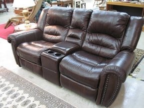 Wall hugger leather recliner 4