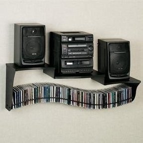 Wall mount cd storage