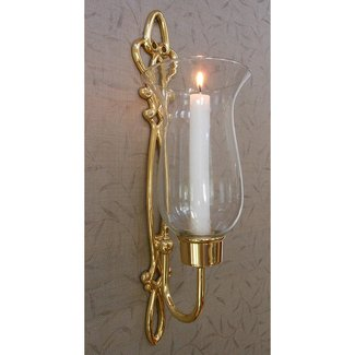 Wall mounted candle holders with glass