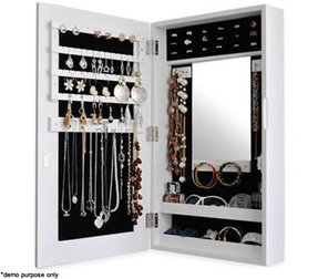 Wall mounted jewelry cabinet
