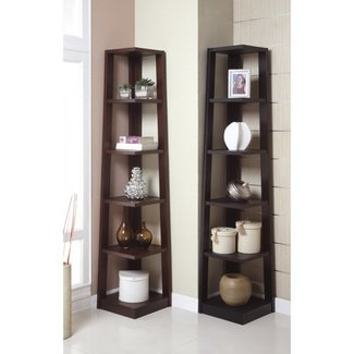Corner shelves living room ideas on foter - Glass corner shelf for living room ...
