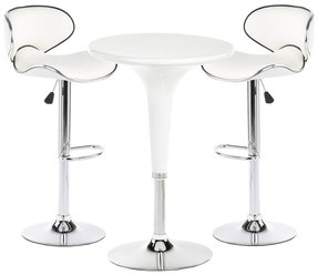 White pub table and stools