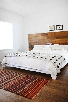 White Wood Headboard Foter