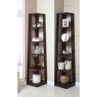 Wood corner shelf