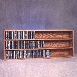 Wood shed 300 series 354 cd wall mounted multimedia storage