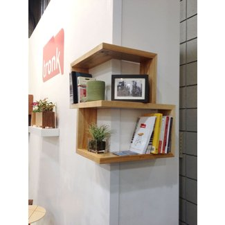 Wooden corner shelf 1