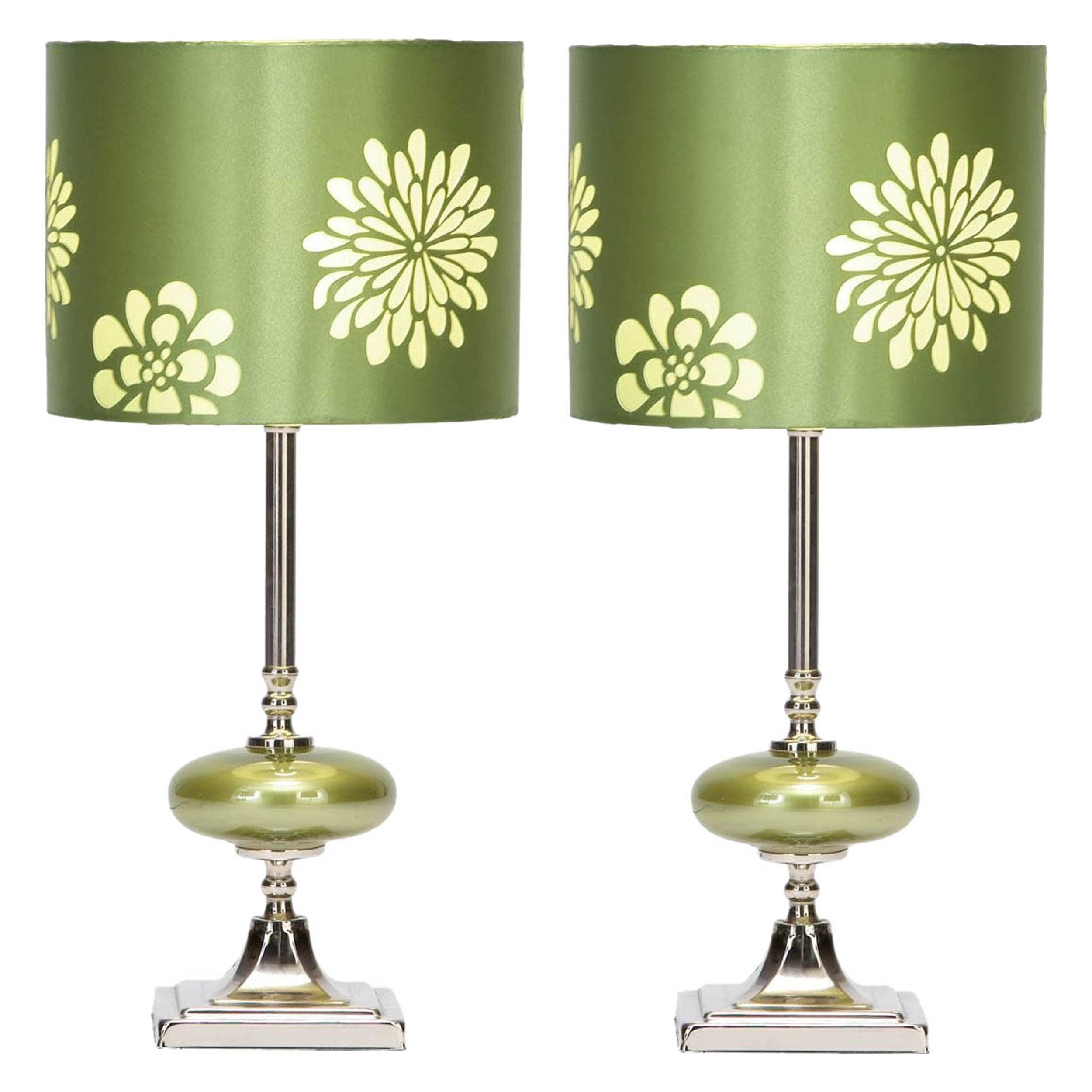 Wyman Table Lamp with Drum Shade (Set of 2)