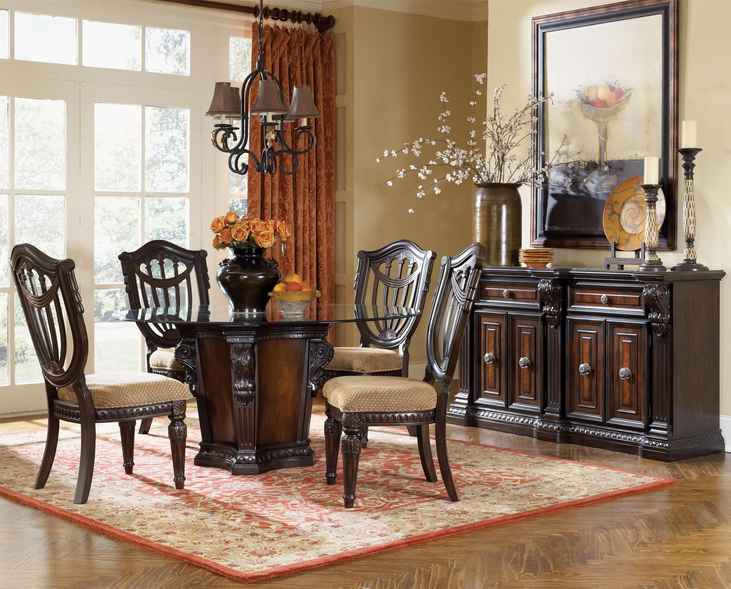 54 Inch Round Dining Table Set