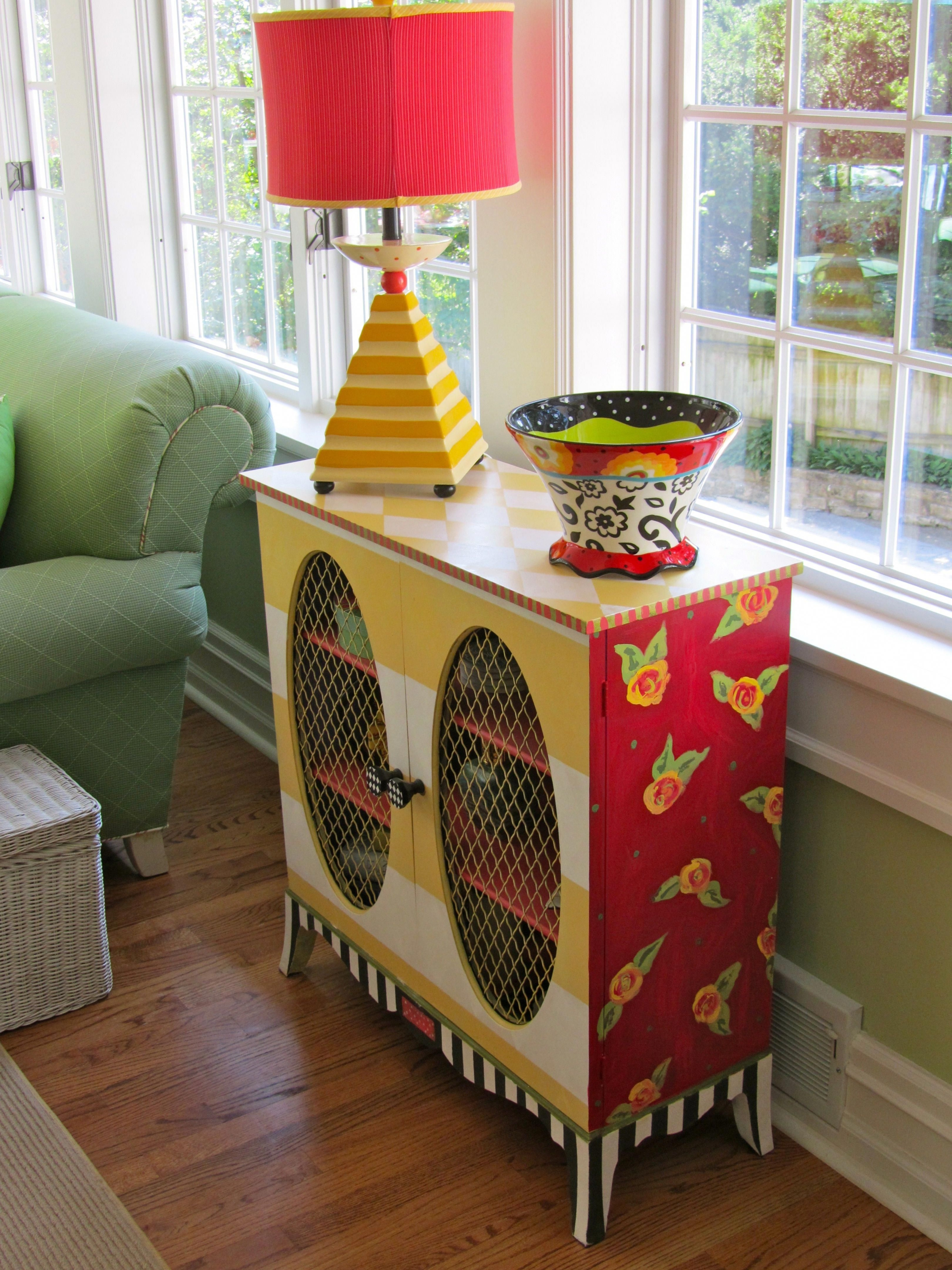 Adorable Hand Painted Cabinet By Be Colorful