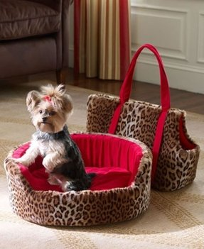 Animal print dog beds