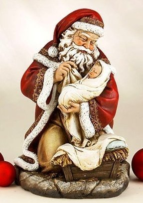 Antique santa claus figurines