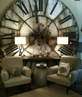 Big round wall clocks 1