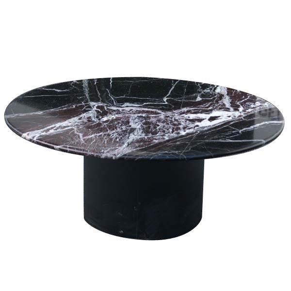 Black Marble Coffee Table Set