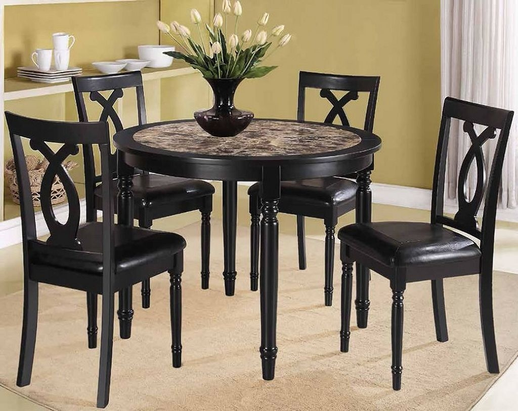 Beautiful Black Round Kitchen Table