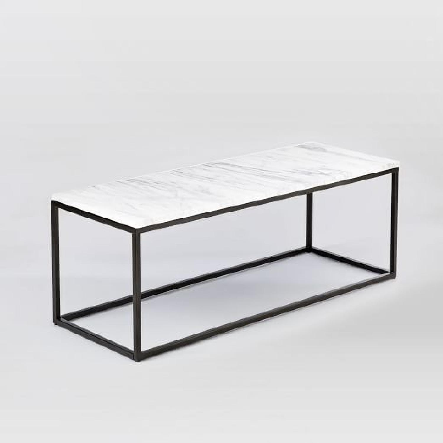 Box Frame Coffee Table Marble 2