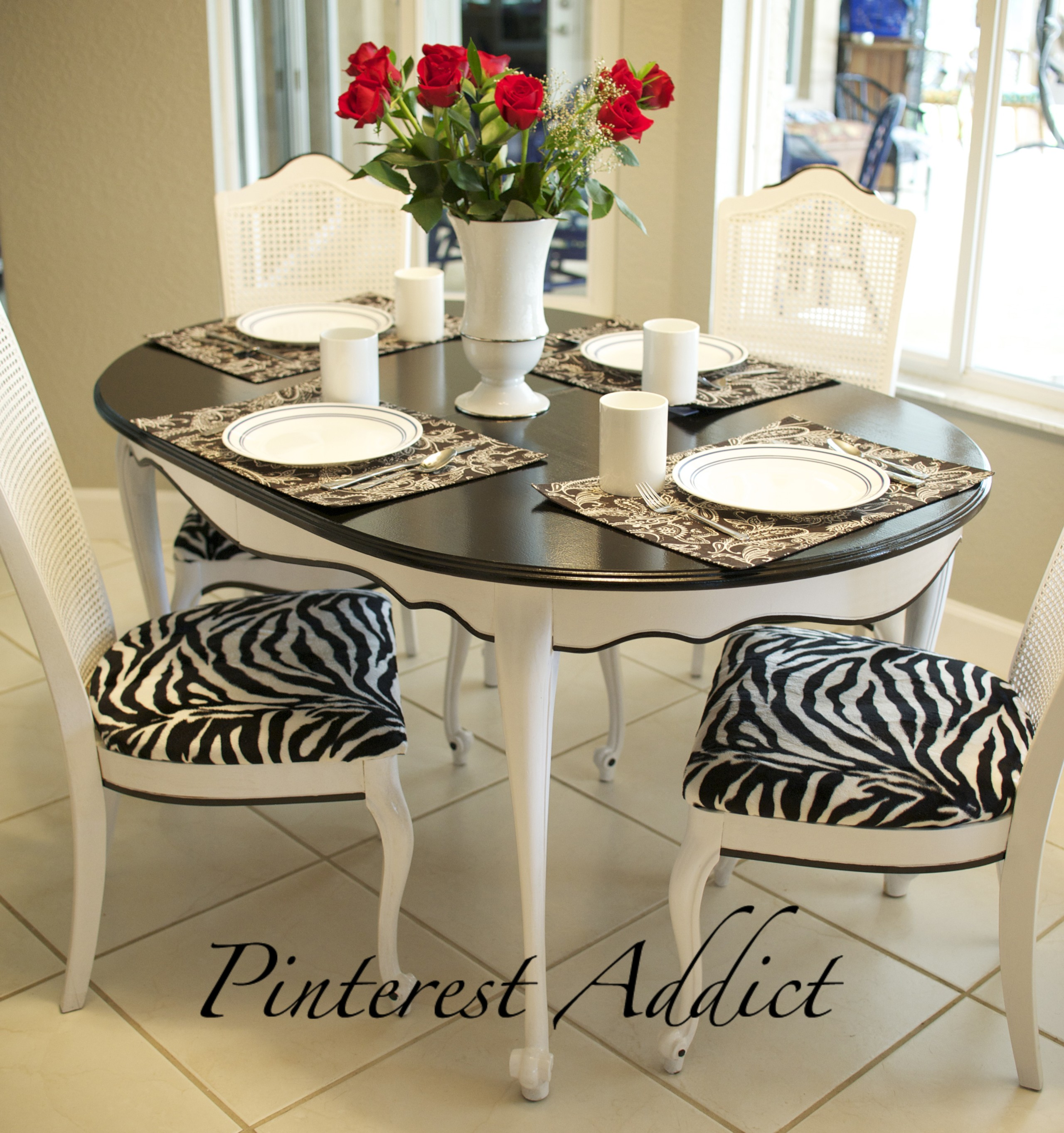 Gentil Brown Zebra Print Chair