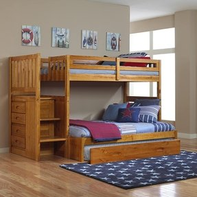 bunk beds with full bed on bottom foter. Black Bedroom Furniture Sets. Home Design Ideas