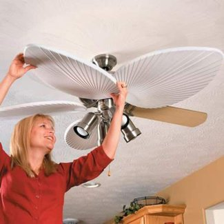 Ceiling fan blade covers