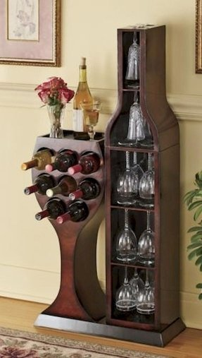Corner Wine Glass Rack Foter