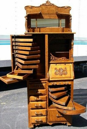 Curio cabinet with drawers 6