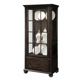 Curio cabinet with drawers