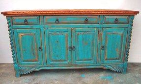 Distressed buffet table 8