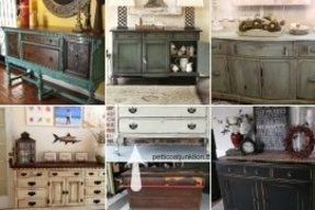 Distressed buffet table