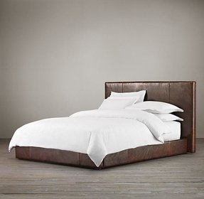 Distressed Leather Headboard Foter