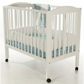 Dream on me 2 in 1 portable folding crib white