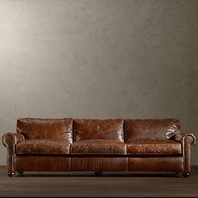 Espresso leather sofa 1