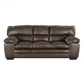 Espresso leather sofa 8