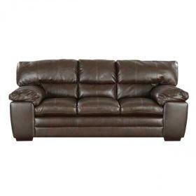 Superbe Espresso Leather Sofa 8