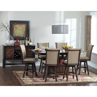 Glenbrook 7 piece counter height dining set with swivel chairs