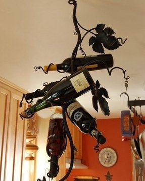 Handmade wine rack