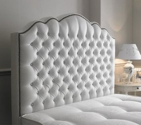 High Quality Amelia Diamante 5ft King Size Leather Headboard 62