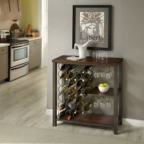 Home Styles Cabin Creek Storage Wine Rack