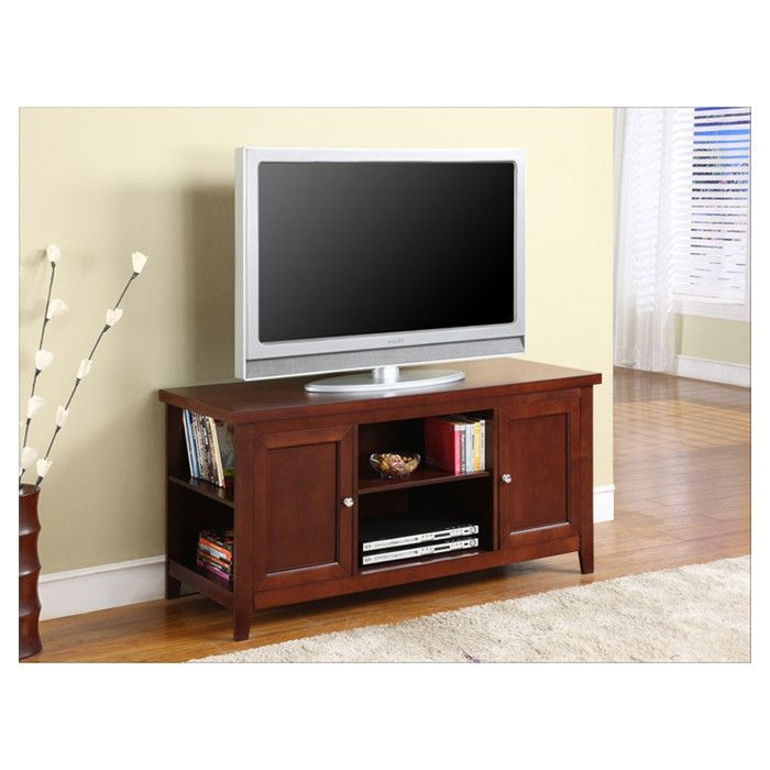 K b walnut finish tv stand