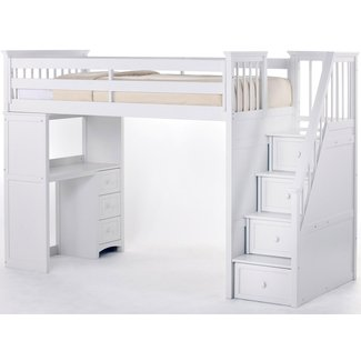 Kids bed with steps