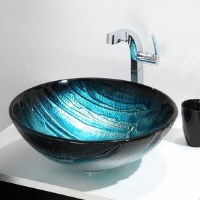 Blue Glass Vessel Sink - Foter